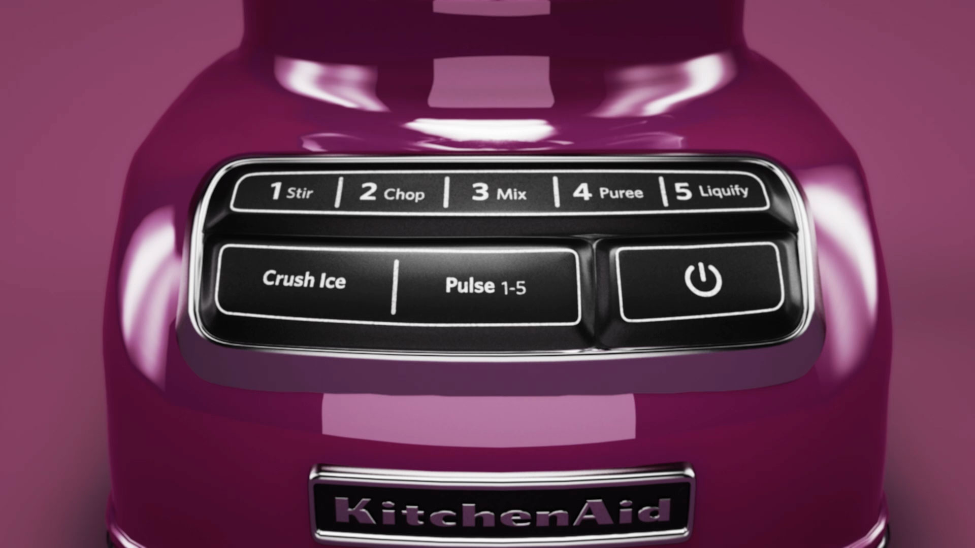 close up of purple kitchenaid settings
