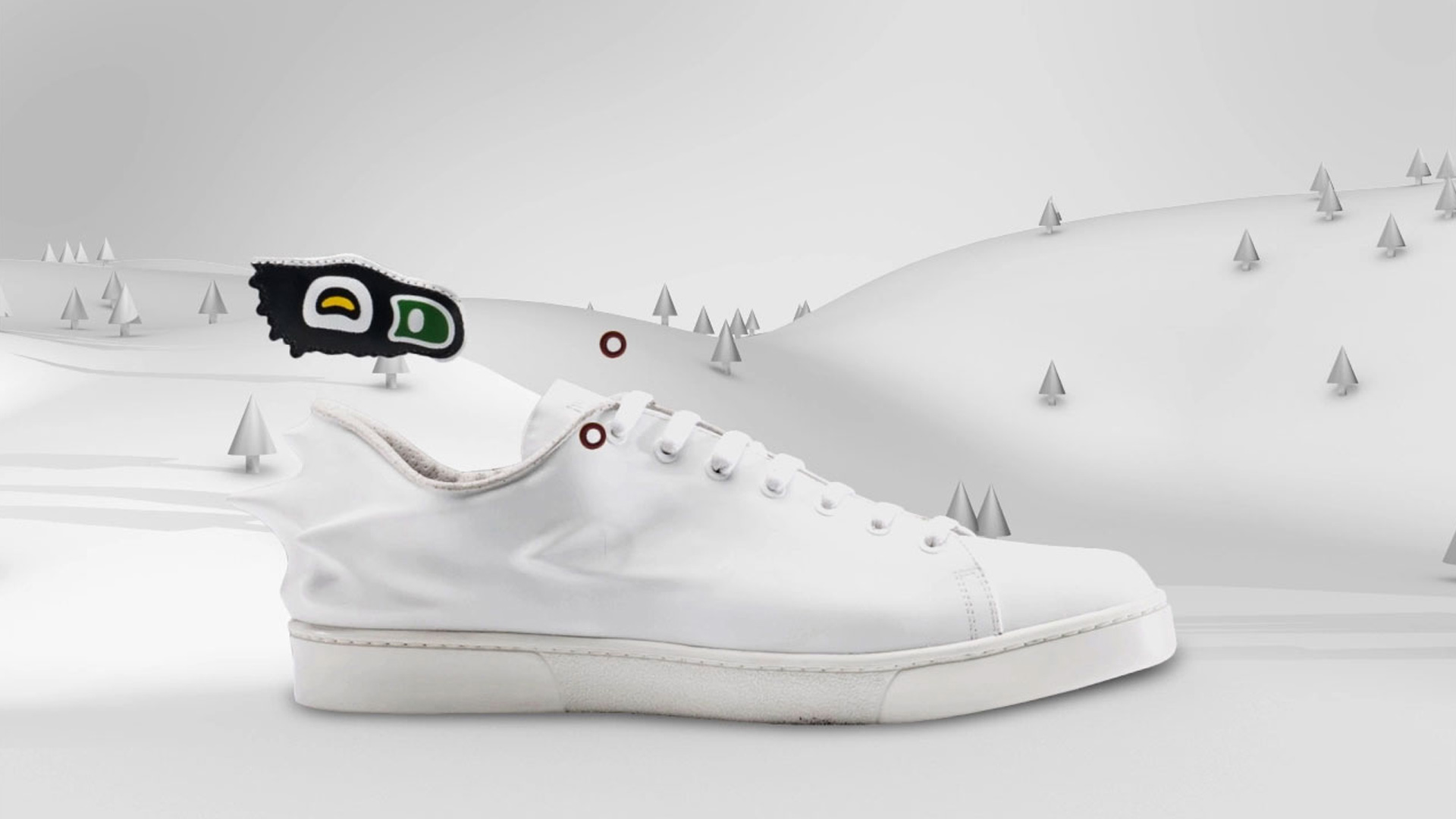 White sneaker at Bata