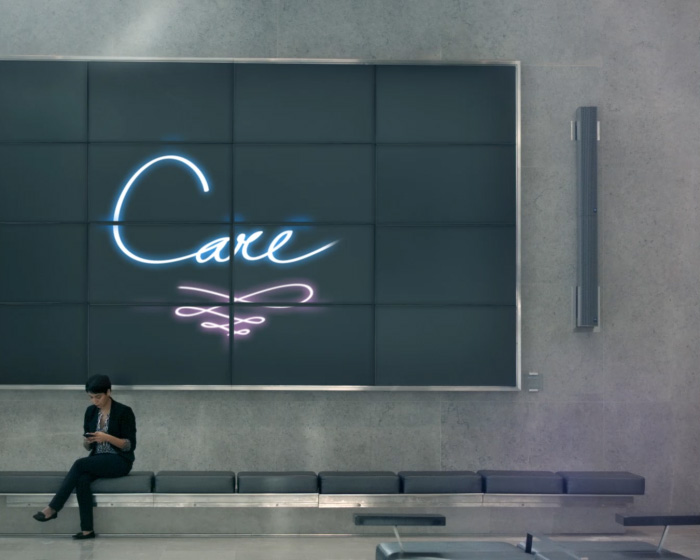 care screen in lobby